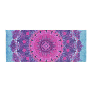 "Iris Lehnhardt ""Grunge Mandala"" Purple Blue Bed Runner"