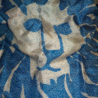 Vintage Silk Lion Scarf  Recycle Clothing  by eclecticnesting