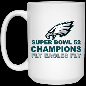 Super Bowl 52 Champions Fly Eagles Fly 21504 15 oz. White Mug