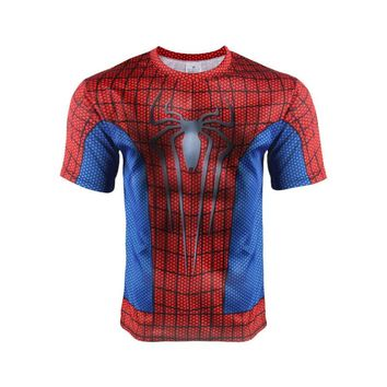 Lowest Price for Red Spiderman Quick Drying Shirts On Sale Compression Shirts $7 Shipping Included!