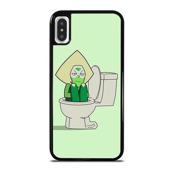 STEVEN UNIVERSE PERIDOT IN TOILET iPhone X Case Cover