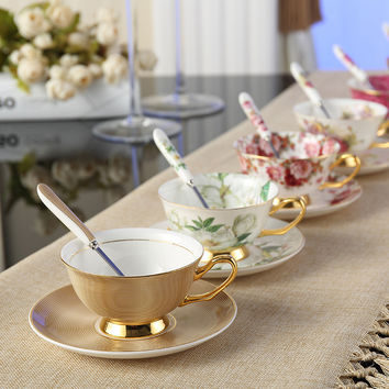 Luxury Coffee Cup And Saucer Spoon Set 200ml Gift (FREE SHIPPING)