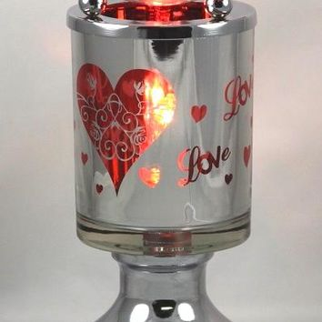 Love Hearts Table Fragrance Aroma Lamp Oil Diffuser Wax Tart Candle Warmer Burner Home Decor Touch Lamp