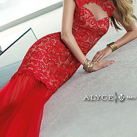 Lace Alyce Prom Dress with Open Back