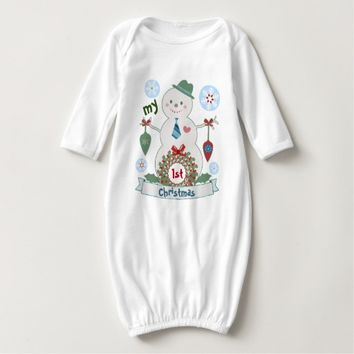 Custom Baby Boy First Christmas Gown / T-Shirt