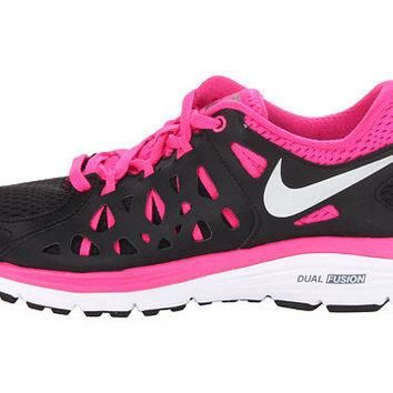 SALE!! Nike Dual Fusion Run 2 Shoes - Black / Pink Foil / White - Bedazzled with 100%