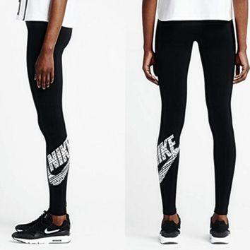 ESB7HX Nike Fashion Print Exercise Fitness Gym Yoga Running Sportswear Legging