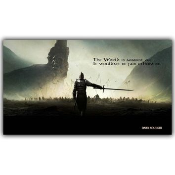 Dark Souls 1 2 3 Art Silk Cloth Posters Canvas Print New Game Image for The Home Decoration Wall 30x53cm 60x106cm