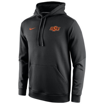 Oklahoma State Cowboys Nike 2014 Sideline KO Chain Fleece Therma-FIT Hoodie – Black