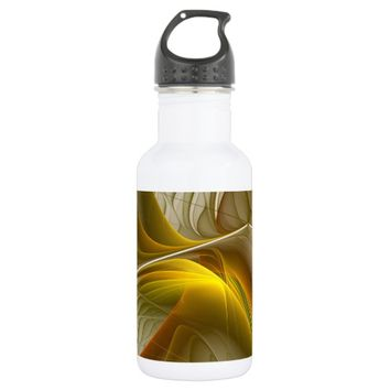 Colors of Precious Metals, Abstract Fractal Art Water Bottle