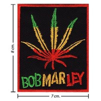 Bob Marley Patch a Reggae Ska Band Logo V Embroidered Iron on Patches Free Shipping From Thailand