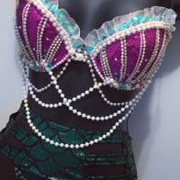 Ariel Outfit 1: Rave Wear, EDM, EDC, rave outfit, halloween, disney, princess, costume