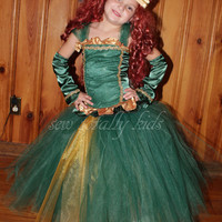 Brave Inspired Merida Cosutme, Dress up, Costume, Tutu  Corset, Merida Tutu  size 1-8 years pageant wear