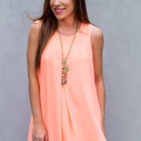 Full Bloom Dress in Coral