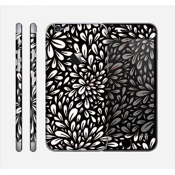 The Black Floral Sprout Skin for the Apple iPhone 6