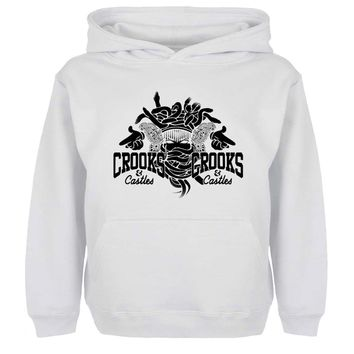 Punk Crooks And Castles Graffiti Art Hoodie Men Women Boy Girl Sweatshirt Hip Hop Jackets Hoody Fashion Streetwear Size S-xxxl