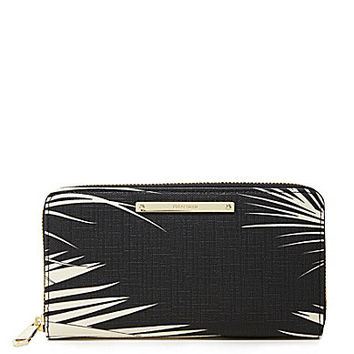Brahmin Black Palm Collection Suri Wallet - Black