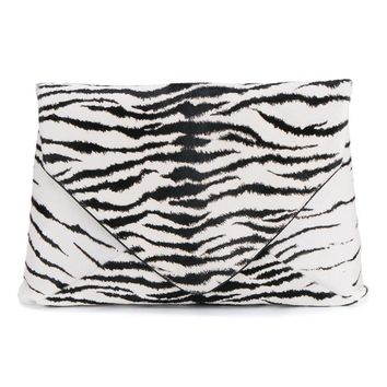 DRIES VAN NOTEN | Leather Zebra Print Envelope Clutch | Womenswear | Browns Fashion