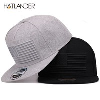 Trendy Winter Jacket [HATLANDER] Raised flag embroidery cool flat bill baseball cap mens gorras snapbacks 3D flag hat ourdoor hip hop snapback caps AT_92_12