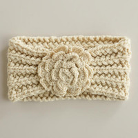 Cream Flower Head Warmer | World Market