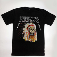Yeezus shirt kanye west tshirt tour yeezy clothing apache unisex size used for mens t-shirt and women tshirt S,M,L,XL,XXL,and 3XL Black