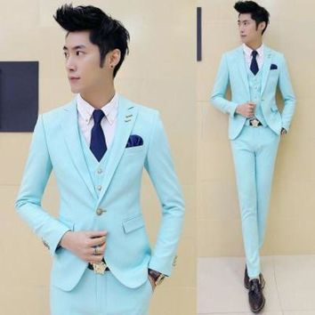 DCCKON3 suit v Mens boutique grooms weddingDress suit three piece suits casual men formal slim business suits