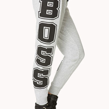 Bossy Heathered Sweatpants