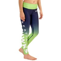Women's Seattle Seahawks College Navy Gradient Leggings