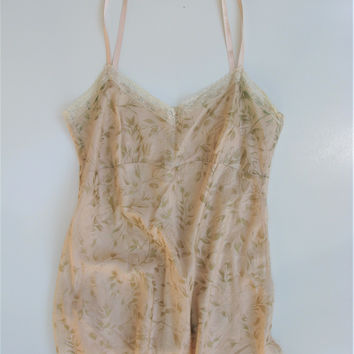 DKNY Silk & Lace Gold Foil Camisole 2