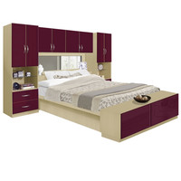 Studio Pier Wall Bed with Top Storage Bridge