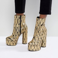 ASOS X MARY BENSON Platform Ankle Boots at asos.com