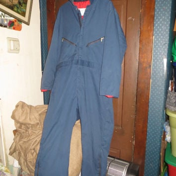 Vintage Walls Blizzard Pruf insulated blue coveralls   SNOWSUIT    sz xlarge