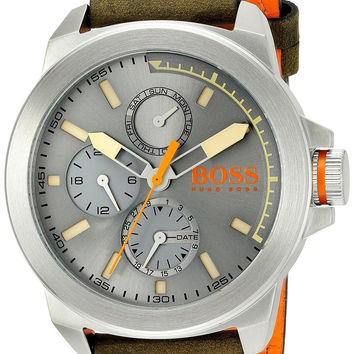 BOSS Orange Men's 1513318 New York Analog Display Japanese Quartz Green Watch