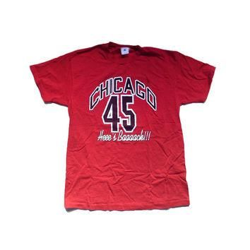 Large Bulls Michael Jordan 45 Chicago Bulls 90s NBA Large Shirt - Chicago Bulls Basket