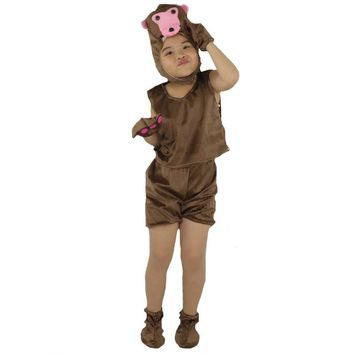 2017 Fashion Children Monkey Short Animal Costume Kids Stage Perfromance Cosplay Clothes Halloween Birthday Dress Supplies
