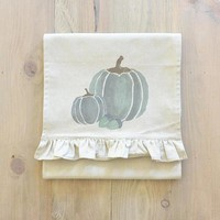 Watercolor Pumpkins Table Runner