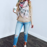 Playing It Cool Top: Beige