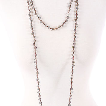 Peyton Necklace - Grey & Gold