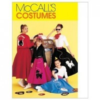 McCall's 50's POODLE SKIRT COSTUME ~ JACKET, SHIRT, SKIRT & SCARF (SIZE GIRLS LARGE 16-18)