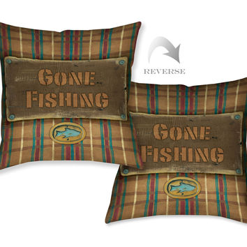 Gone Fishing Indoor Indoor Decorative Pillow
