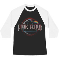 Pink Floyd Men's  Dark Side Baseball Jersey Black/White Rockabilia