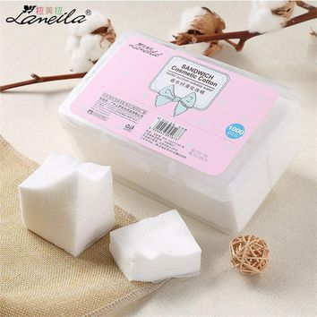 1000Pcs/Set Cotton Makeup Cotton Wipes Soft Makeup Remover Pads Facial Cleansing Paper Wipe Skin Care Remove With Retail Packing