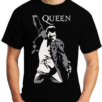 QUEEN FREDDIE MERCURY ROCK MUSIC STAR T-SHIRT S-3XL UNISEX TRIBUTE RIP Men 2017 Summer Round Neck Men'S T Shirt