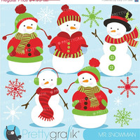 60% OFF SALE Snowman clipart commercial use, vector graphics, digital clip art, digital images - CL584
