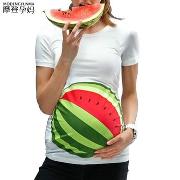 Maternity T-shirt maternity clothing breastfeeding clothes Watermelon Printing Pregnant Clothes cotton fashion pregnant