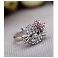 BS1981 Bow HELLO KITTY ring finger ring