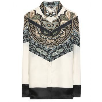 etro - printed silk shirt
