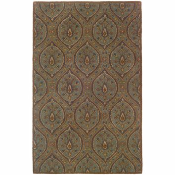 Windsor Blue Ivory Oriental Persian Traditional Rug