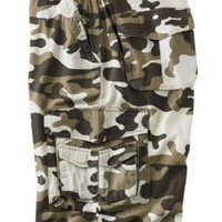Boulder Creek Big & Tall Camo Print Side Elastic Cargo Shorts