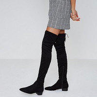 Faux suede over the knee boots - Boots - Shoes & Boots - women